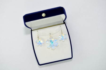 Snowflake Pendant, Crystal Aurore Boreale, 20/30 mm