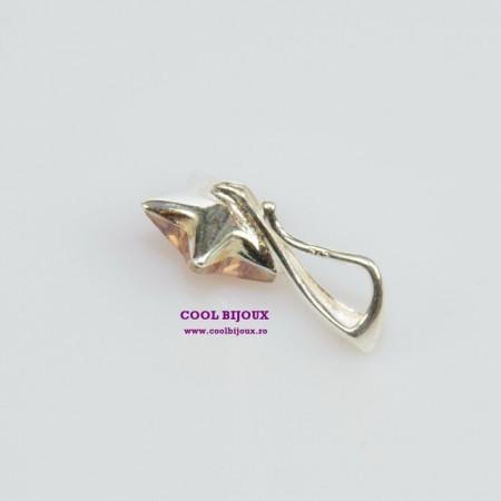 Pandantiv argint cu cristal SWAROVSKI ELEMENTS - Golden Shadow