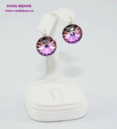 Cercei cu cristale SWAROVSKI ELEMENTS - Vitral Light