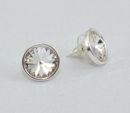 Cercei surub cu cristale SWAROVSKI ELEMENTS - Crystal