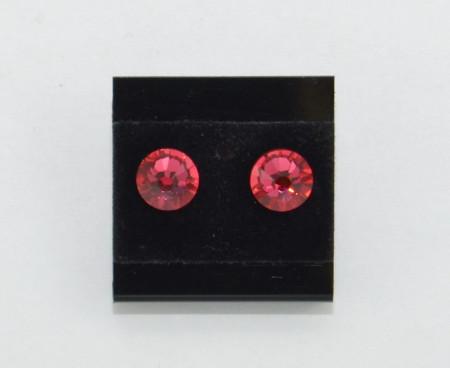 Cercei surub cu cristale SWAROVSKI ELEMENTS - indian pink