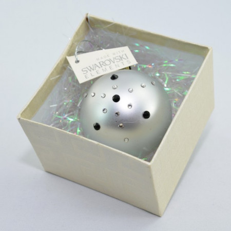 Glob cu cristale SWAROVSKI ELEMENTS - argintiu - 58 mm