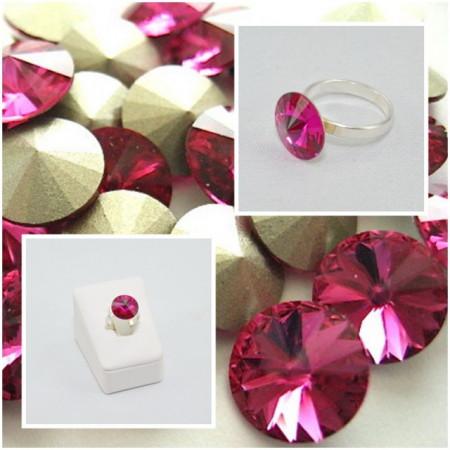 Inel cu cristal SWAROVSKI ELEMENTS -  Fuchsia