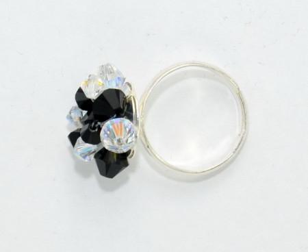 Inel cu cristale de 4 & 6 mm
