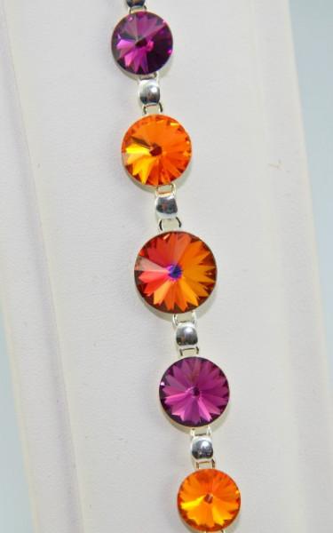 Set bijuterii argint cu cristale SWAROVSKI ELEMENTS - Sun Volcano