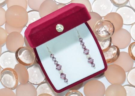 Cercei cu cristale SWAROVSKI ELEMENTS - light amethyst