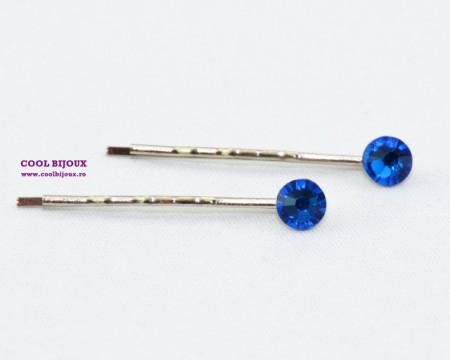 Agrafe de par cu cristale SWAROVSKI ELEMENTS - capri blue