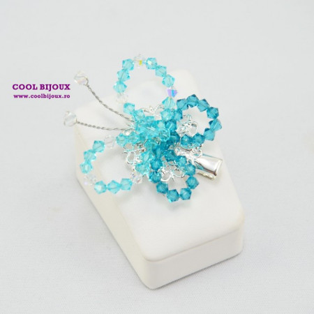 Brosa BUTTERFLY TURQUOISE