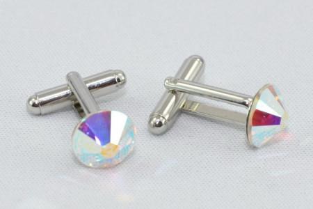Butoni cu cristale SWAROVSKI ELEMENTS - Crystal Aurore Boreale