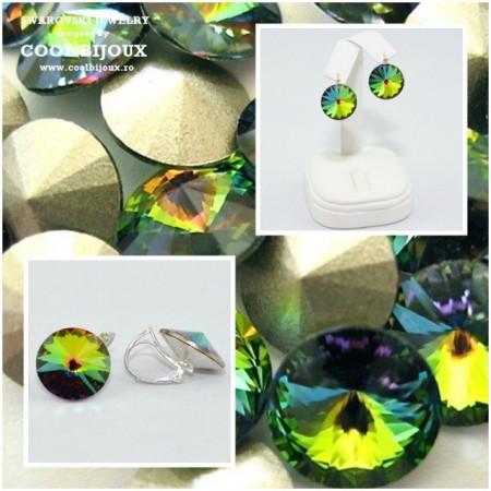 Cercei cu cristale SWAROVSKI ELEMENTS - Vitrail Medium