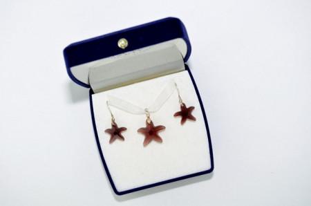 Starfish Pendant - Burgundy, 16/20 mm