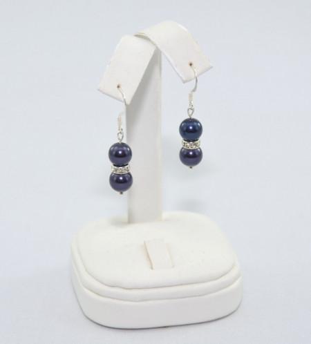 Cercei cu perle SWAROVSKI ELEMENTS - night blue