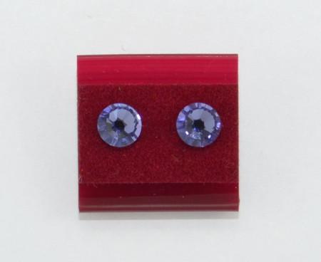 Cercei surub cu cristale SWAROVSKI ELEMENTS - tanzanit