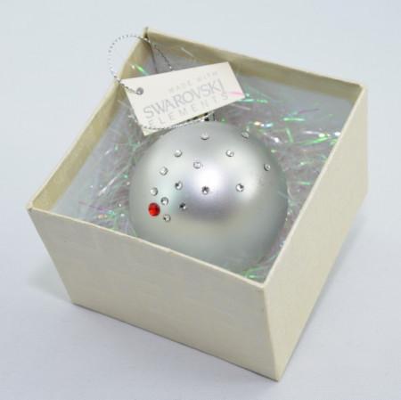 Glob cu cristale SWAROVSKI ELEMENTS - argintiu - 58 mm
