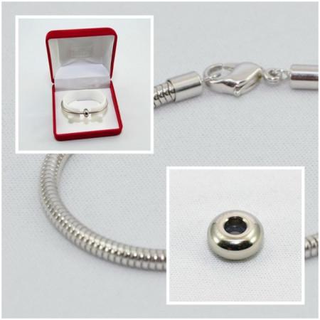 SWAROVSKI charm & bracelet - stopper