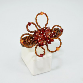 Bratara fixa cu cristale  SWAROVSKI ELEMENTS - Flower Mix Red Magma