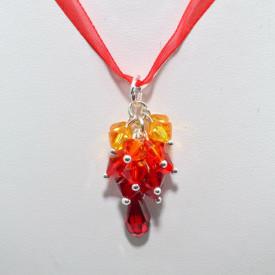 Cercei si pandantiv DROP cu cristale SWAROVSKI ELEMENTS - sun