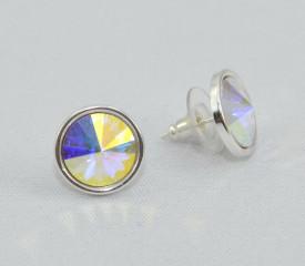 Cercei surub cu cristale SWAROVSKI ELEMENTS - Crystal Aurore Boreale
