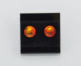 Cercei surub cu cristale SWAROVSKI ELEMENTS - fire opal