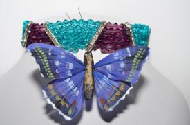 Colier cu cristale SWAROVSKI ELEMENTS  cu 5 randuri