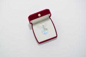 Heart Pendant, Crystal Aurore Boreale, 18 mm