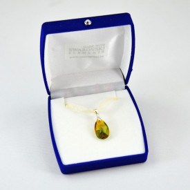 Pear Pendant, Blend Topaz & Fern Green, 22 mm