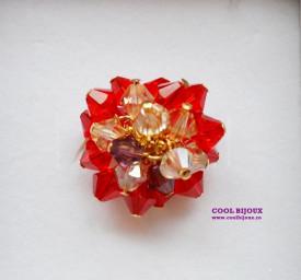 Set bijuterii cu cristale SWAROVSKI ELEMENTS - siam & golden