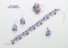 Set bijuterii cu cristale SWAROVSKI ELEMENTS - summer mix
