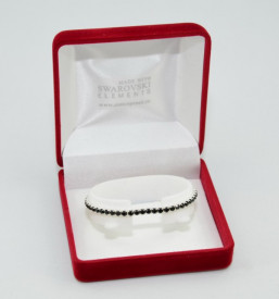 STRETCH BRACELET SWAROVSKI ELEMENTS - black