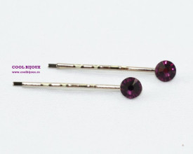 Agrafe de par cu cristale SWAROVSKI ELEMENTS - amethyst