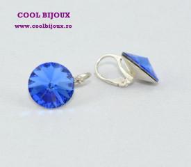 Cercei cu cristale SWAROVSKI ELEMENTS - Sapphire