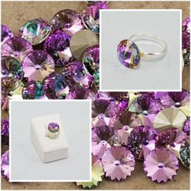 Inel cu cristal SWAROVSKI ELEMENTS -  Vitral Light