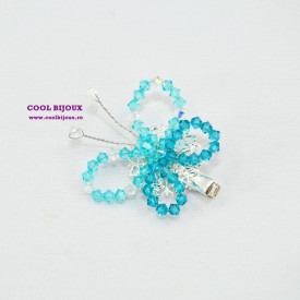 Ornament par (agrafa) SMALL BUTTERFLY TURQUOISE