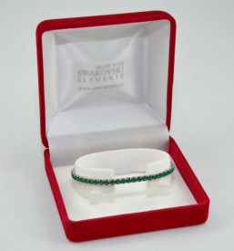 STRETCH BRACELET SWAROVSKI ELEMENTS - emerald