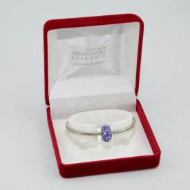 SWAROVSKI charm & bracelet - tanzanite