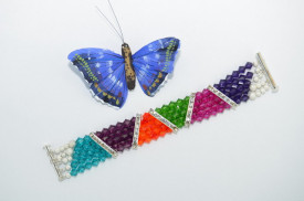 Bratara 5 randuri cu cristale  SWAROVSKI ELEMENTS
