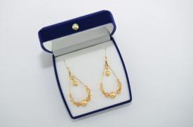 Cercei cu cristale si perle SWAROVSKI ELEMENTS