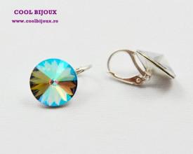 Cercei cu cristale SWAROVSKI ELEMENTS - Paradise Shine
