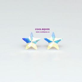 Cercei surub cu cristale SWAROVSKI ELEMENTS - Star Crystal AB