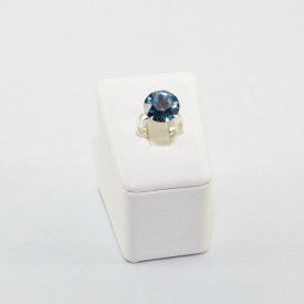 Inel cu cristal SWAROVSKI ELEMENTS - Denim Blue