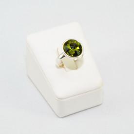 Inel cu cristal SWAROVSKI ELEMENTS - Olivine