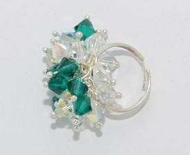 Inel cu cristale biconice - 6mm