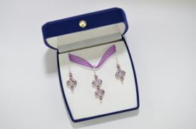 Briolette & Biconic Bead, Antique Pink, 12 mm