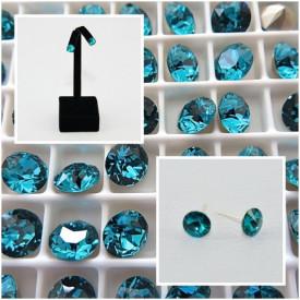 Cercei surub cu cristale SWAROVSKI ELEMENTS - Blue Zircon