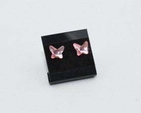 Cercei surub cu cristale SWAROVSKI ELEMENTS - Butterfly, light rose