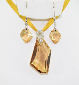 De Art Cosmic Pendant, Crystal Golden Shadow, 20/50 mm