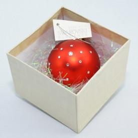 Glob cu cristale SWAROVSKI ELEMENTS - rosu - 58 mm