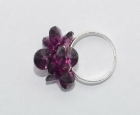 Inel cu cristale Rivoli - 8 mm