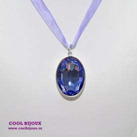 Pandantiv oval cu cristal SWAROVSKI ELEMENTS - Tanzanit