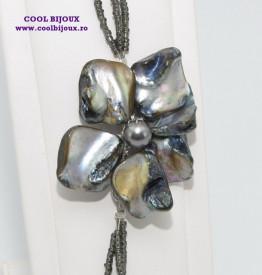 Set bijuterii cu sidef si perle SWAROVSKI ELEMENTS - black